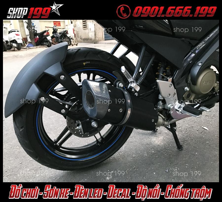 Hình ảnh pô R9 màu đen cực ngầu và độc độ FZ 150i